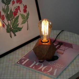 Маленькая лампа в стиле лофт.Ночник.Подарок девушке