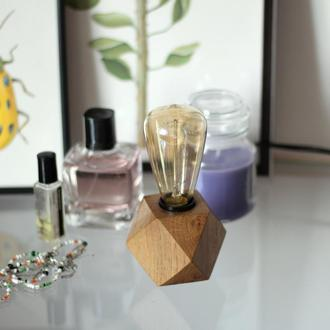 Маленькая лампа в стиле лофт.Ночник.Подарок девушке.Декор в дом