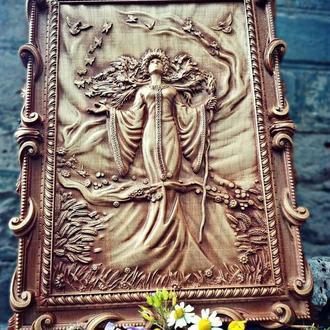 Деревянное резное панно «Жива» по картине Ожиганова И.Е. ⠀ ⠀