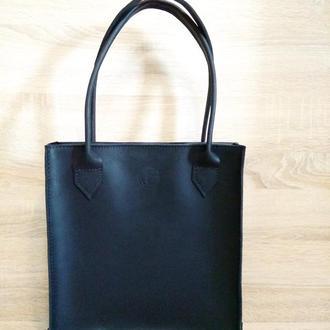 Женская кожаная сумка шоппер