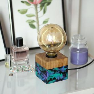 Дубовая лампа в стиле лофт