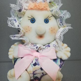 Интерьерная кукла-неваляшка из капрона