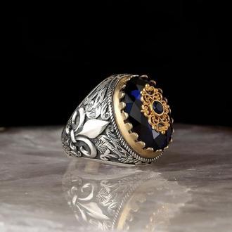 Оригинальное кольцо из серебра 925 ручной работы с гравировкой