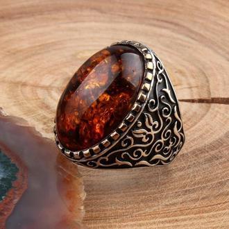 Эксклюзивный перстень из серебра 925 пробы