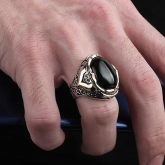 Эксклюзивное кольцо из серебра 925 пробы ручной работы