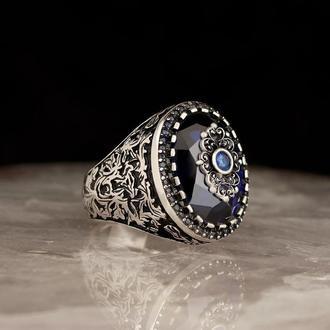 Перстень Циркон ювелирная работа мастера ручной работы кольцо из серебра