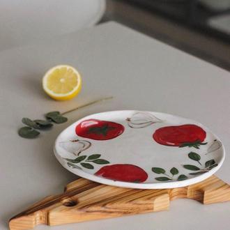 Блюдо для подачи закусок Томат