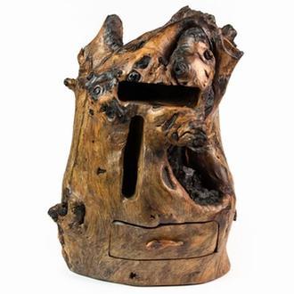 Шкатулка комодик деревянная резная