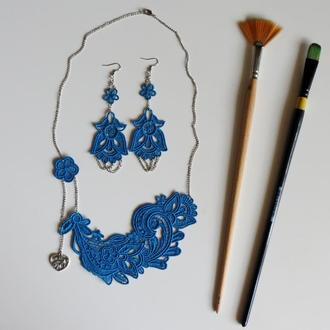 Комплект Сині квіти