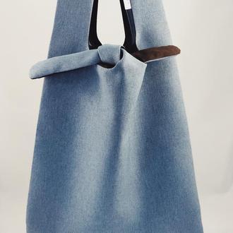 Пляжная сумка. Голуба эко-сумка. Сумка для покупок,  шоппер, авоська,  торба. Тканевая сумка.