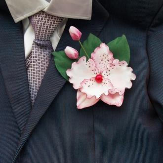 брошь - орхидея
