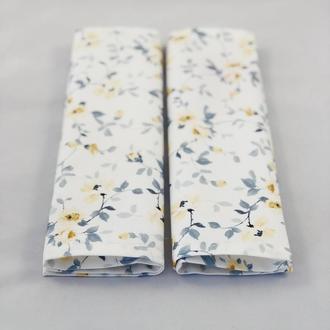 Салфетки кухонные 2 шт с жёлтыми цветами. Салфетка для сервировки. Декоративная салфетка.