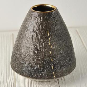 Современная керамическая ваза, Nacked Raku, высота 16 см, арт.№56