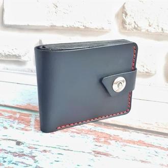 Портмоне кожаный  черное  Modern, кошелёк кожаный черный