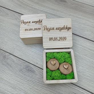 Шкатулка для обручальных колец из дерева