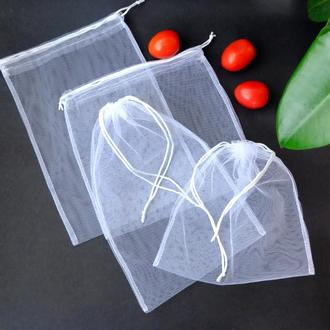 """Набор эко мешочков """"White"""", эко торбочки из сетки, мешки для продуктов, еко мішки із сітки"""
