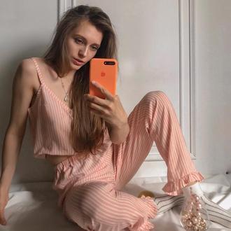"""Пижама в розовую полоску """"Нежность"""""""
