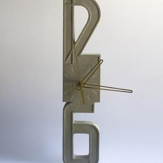 Бетонний годинник настінний (бетонные часы)