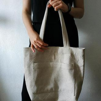 Льняная сумка/шопер/торба