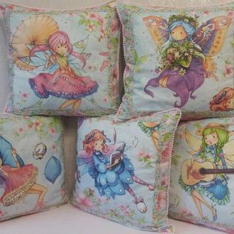 Подушка детская с феечками/ подушка дитяча з феями/ подушечка для дівчинки
