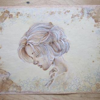 Винтаж. Рисунок,  2019г Автор - Мишарева Наталья