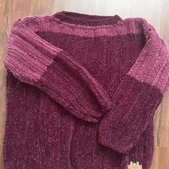 Велюровый свитер