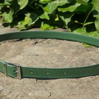 Поясний ремінь зі шкіри (green)