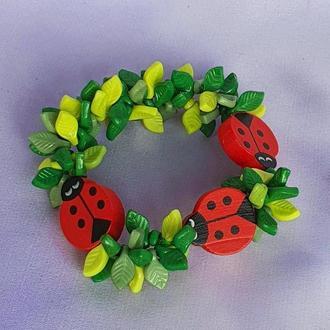 """Дитячий браслет """"ЛІСОВА ПОЛЯНА"""" для дівчинки / Оригінальний подарунок для маленької модниці"""