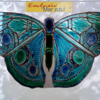 Витраж подвесной, оконный Бабочка MAR AZUL/