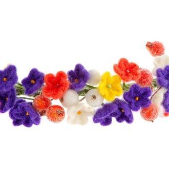 """обруч з валяних квітів """"В стилі Ботічеллі"""""""