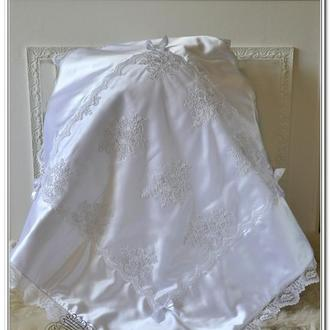 Одеяло плед на выписку для новорожденного Премиум