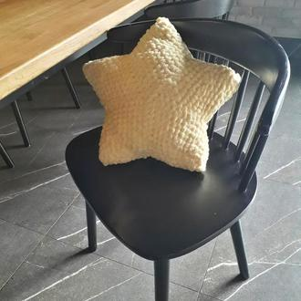 Плюшевая подушка звёздочка