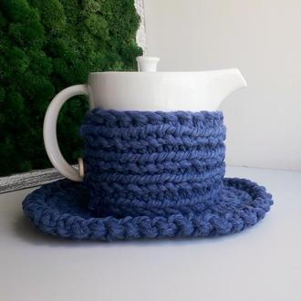 Набор салфетка и свитер для чайника