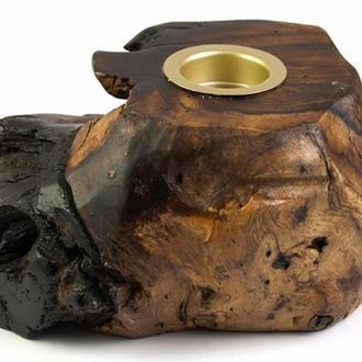 Подсвечник деревянный резной