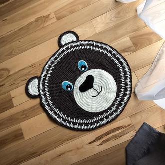 Детский ковер. Вязаный коврик для ребенка. вязаный коврик