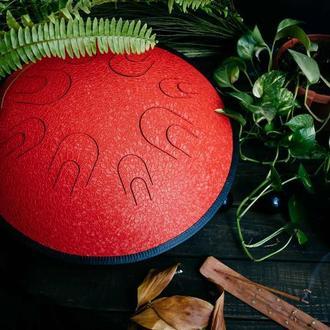 "Глюкофон ""Атлант Красный Дракон"" аналог Ханг драм, Hapi Drum, Happy Drum Hang (Hijaz) 16 нот"