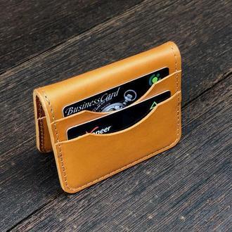 Кожаный картхолдер 6 отделения для карт подарок с именной гравировкой