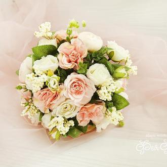 Букет-дублер розовая пудра / Букет-дублер для весілля айвори / Букет нареченої / Букет дружкам