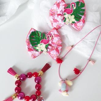 Подарочный набор фламинго