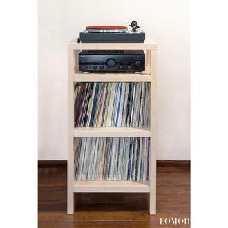 Стеллаж для пластинок и аппаратуры Wood Vinyl 33