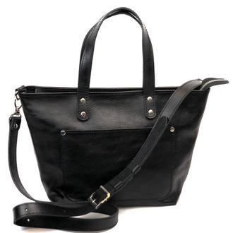 Великолепная кожаная женская сумка на каждый день кросс-боди
