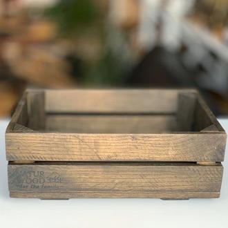 Деревянный ящик ( 30х20х11 см)