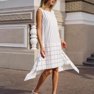 Платье из льна Jeneva С геометрическим принтом