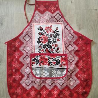 Фартушек для маленькой хозяюшки в украинском стиле