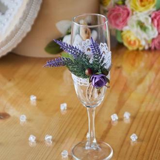 Весільні бокали для шампанського арт. 9009