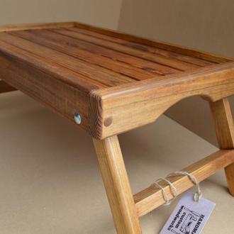 Столик для ноутбука и завтрака в постель - мореный дуб