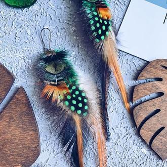 Серьги в бохо-стиле «Амазонка»