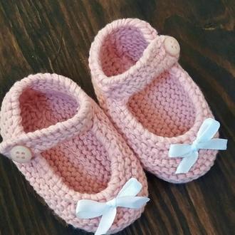Туфельки-пинетки из хлопка