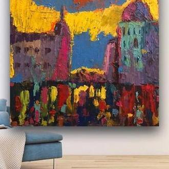картина маслом на холсте, 50х50, крещатик, импрессионизм