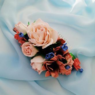 Весільний гребінь в зачіску «антична ніжність»